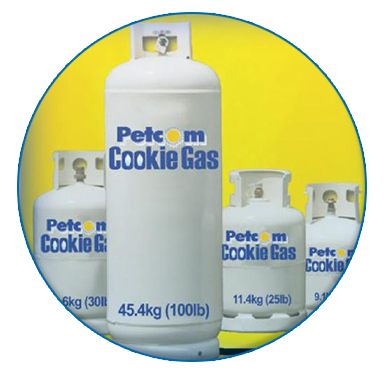 Petcom cookie gas cylinders